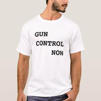 T-shirt Contrôle des armes maintenant, texte noir