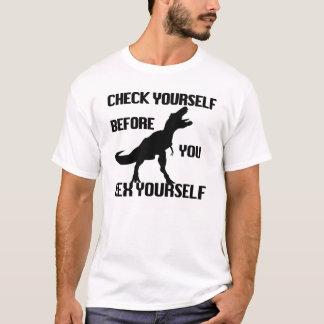 T-shirt Contrôle drôle vous-même avant que vous épave de