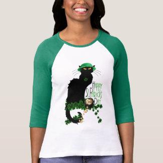 T-shirt Conversation du jour de St Patrick heureux Noir