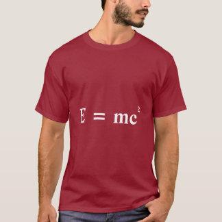 T-shirt Conversion d'E = d'énergie de masse de mc2