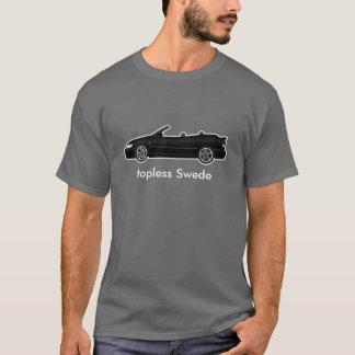 T-shirt convertible noir de viggen, torse nu Suédois