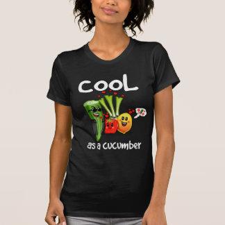 T-shirt Cool comme pièce en t de dames de concombre