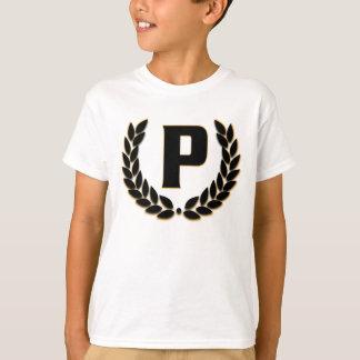 T-shirt Cool de branche d'olivier de monogramme de P