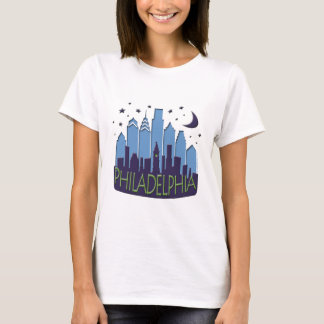 T-shirt Cool de méga d'horizon de Philly