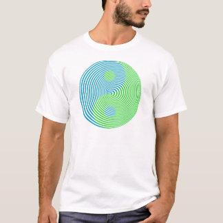 T-shirt Cool visuel Yin Yang de confusion de Wellcoda