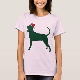 T-shirt Coonhound noir et bronzage
