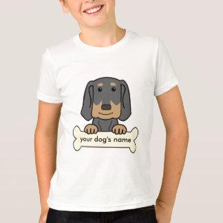 T-shirt Coonhound noir et bronzage personnalisé