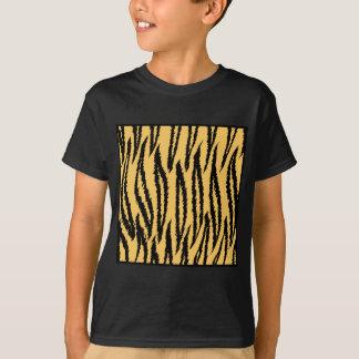 T-shirt Copie de tigre. Modèle orange et noir