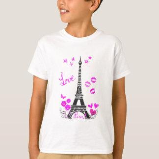 T-SHIRT COPIE DE TOUR EIFFEL DE PARIS D'AMOUR