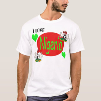 T-shirt Copie du NIGÉRIA, Nigeria_coa, Nigeria_coa, J'AIME