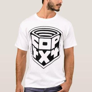 T-shirt copie du noir basic1 d'insigne de cannette de fil