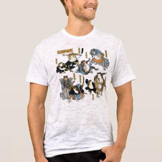 T-shirt Copie d'Ukiyo-e - grenouilles en tant qu'acteurs