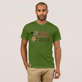 T-shirt copie inconditionnelle rouge/bronzage olive de Tru