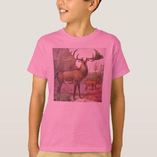 T-shirt Copie préhistorique d'antiquité d'animaux de cerfs