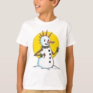 T-shirt copie punk de bonhomme de neige
