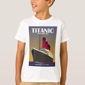 T-shirt Copie titanique d'art déco de revêtement d'océan