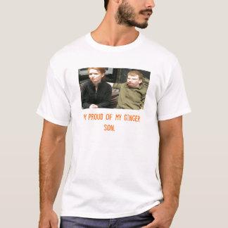 T-shirt coppermom1, je suis fier de mon fils de gingembre