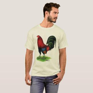T-shirt Coq de combat :  Rouge foncé