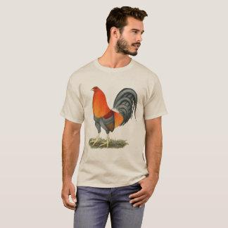 T-shirt Coq de rouge bleu de coq de combat