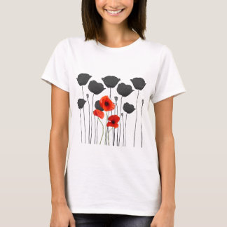 T-shirt coquelicot