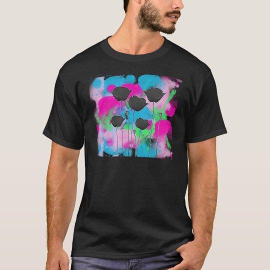 T-shirt coquelicot sur peinture