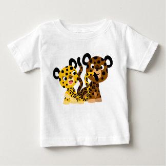 T-shirt coquet mignon de bébé de jaguars de bande