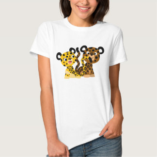 T-shirt coquet mignon de femmes de jaguars de