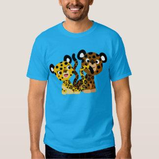 T-shirt coquet mignon de jaguars de bande dessinée