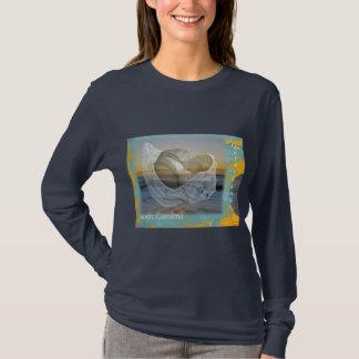 T-shirt Coquillage et surf externes de la Caroline du Nord