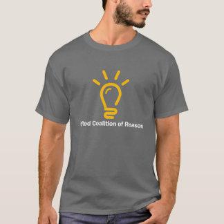 """T-shirt Cor uni """"je raisonne"""" pièce en t (les hommes"""