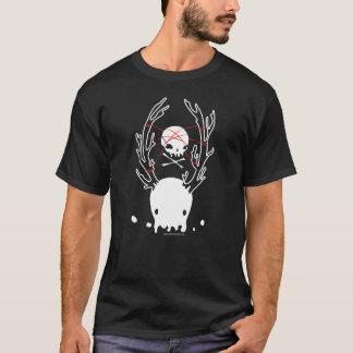 T-shirt Corde déplaisante de crâne de méduses de cerfs