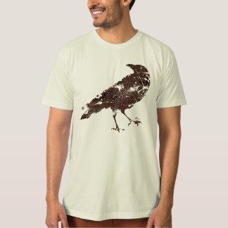 T-shirt Corneille en Brown sur la chemise organique