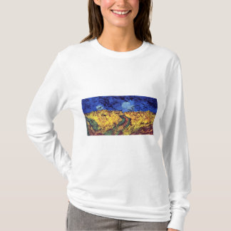 T-shirt Corneilles au-dessus de Wheatfield par Vincent van