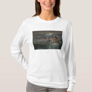 T-shirt Coronado, CA - vue éclairée par la lune d'Hotel