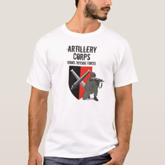 T-shirt Corps d'artillerie, forces de défense de l'Israël