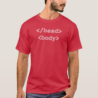 T-shirt Corps principal de HTML de programmeur de