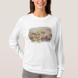 T-shirt Cortes descendant sa flotte outre de la côte de