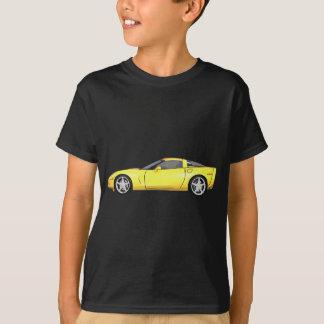 T-shirt Corvette 2008 : Voiture de sport : Finition jaune