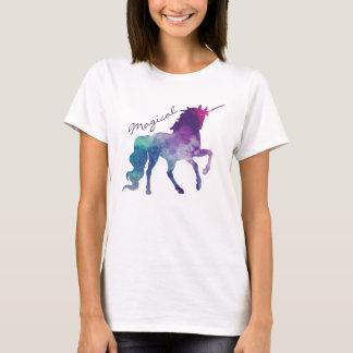 T-shirt cosmique d'aquarelle de galaxie de licorne
