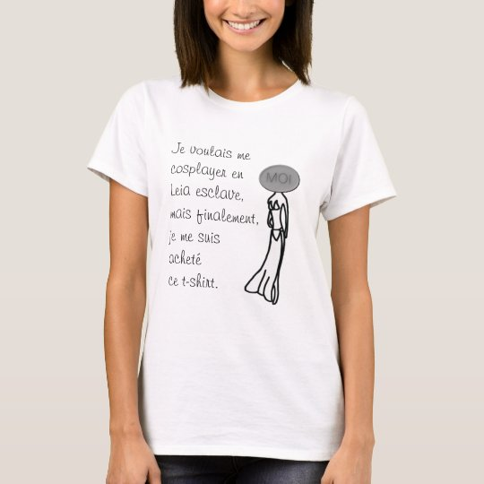 T-shirt Cosplay Princesse Leia