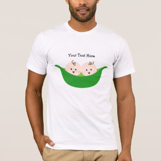 T-shirt Cosses de pois jumelles (personnalisables)