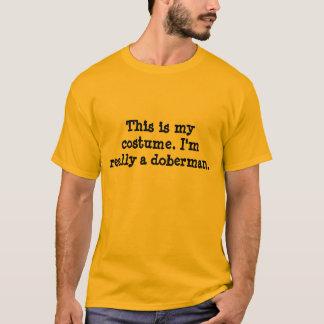 T-shirt Costume de dobermann