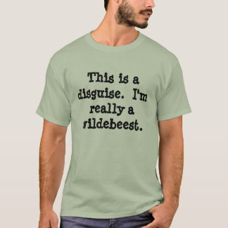 T-shirt Costume de gnou