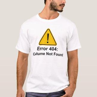 T-shirt Costume des erreurs 404 Halloween non trouvé