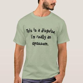 T-shirt Costume d'opossum