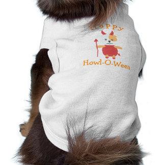 T-shirt Costume heureux mignon de diable de chien de