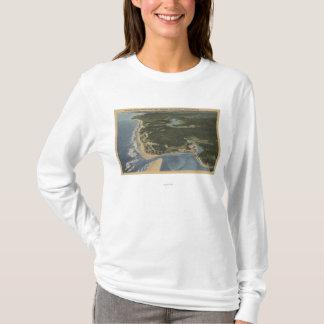 T-shirt Côte de l'Orégon - baie de Siletz, Taft, Nelscott
