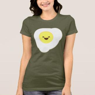 T-shirt côté ensoleillé d'oeufs de kawaii