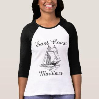 T-shirt Côte Est nautique de bateau de navigation de