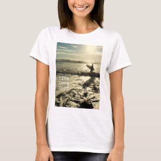T-shirt côtier de la citation d'amour des femmes